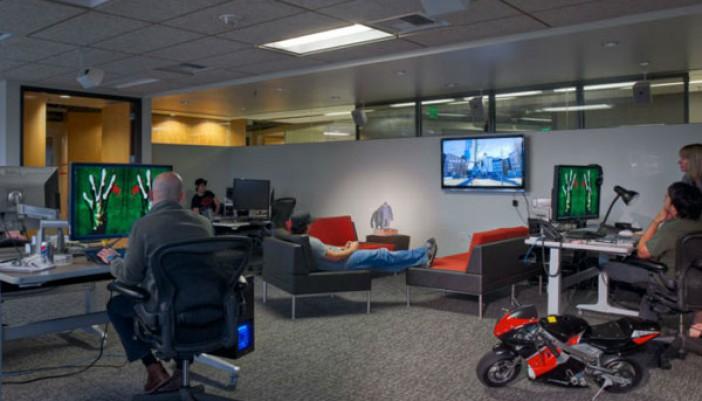Las oficinas de empresas de videojuegos