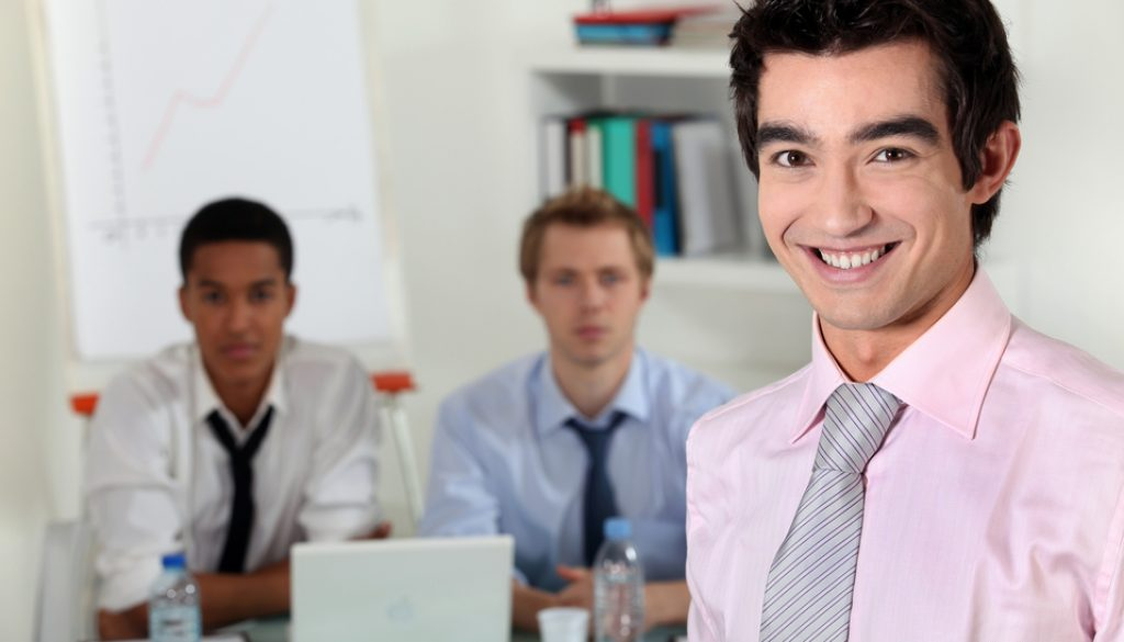 Young business professionals in a meeting