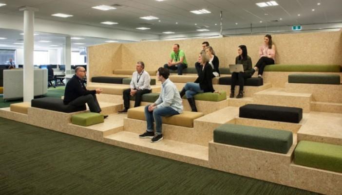 Más zonas comunes y tecnología en oficinas