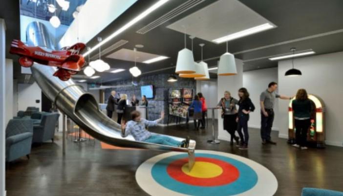 Las oficinas más divertidas en Reino Unido